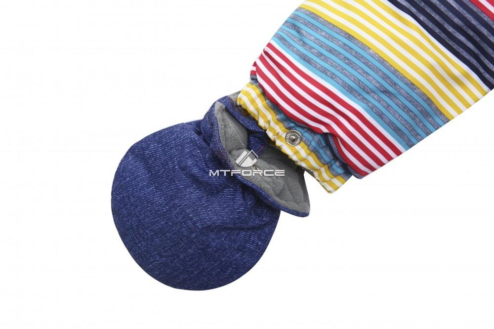 Купить оптом Комбинезон детский синий 8803S в Воронеже