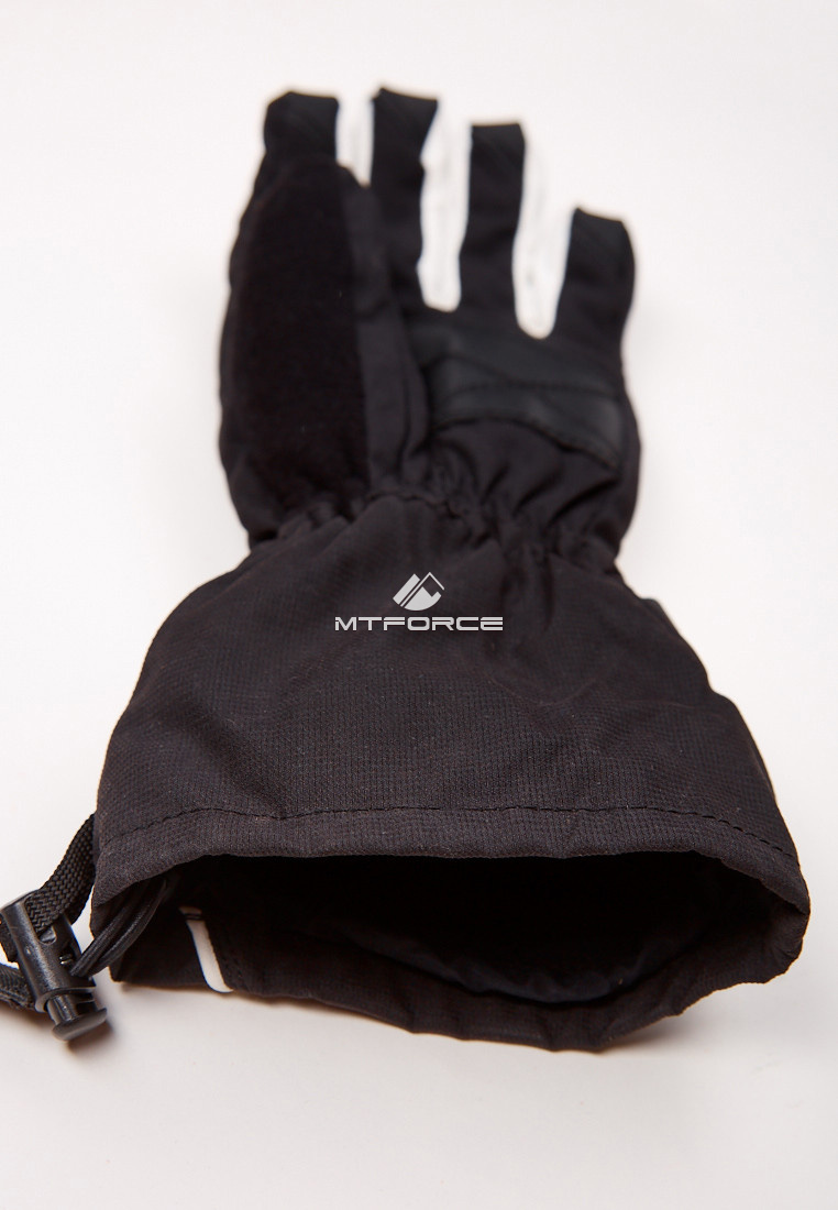 Купить оптом Перчатки мужские горнолыжные черного цвета 88060Ch