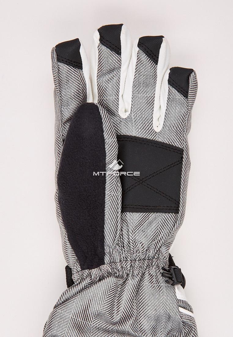 Купить оптом Перчатки мужские горнолыжные серого цвета 88060Sr