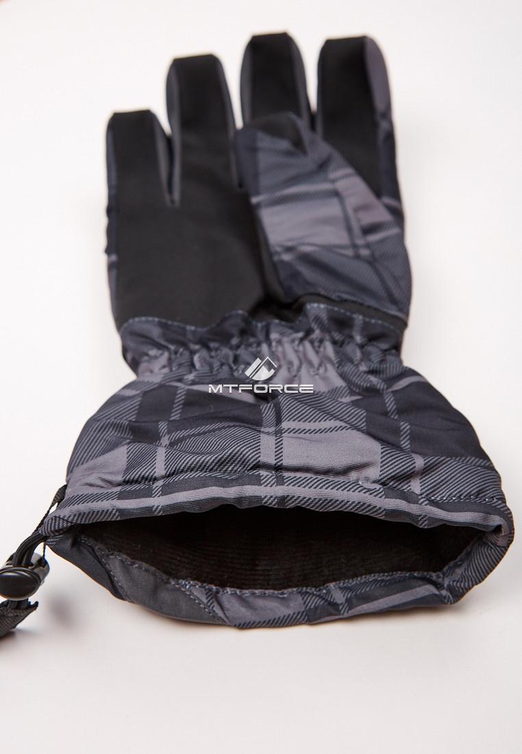 Купить оптом Перчатки мужские горнолыжные темно-серого цвета 88061TC