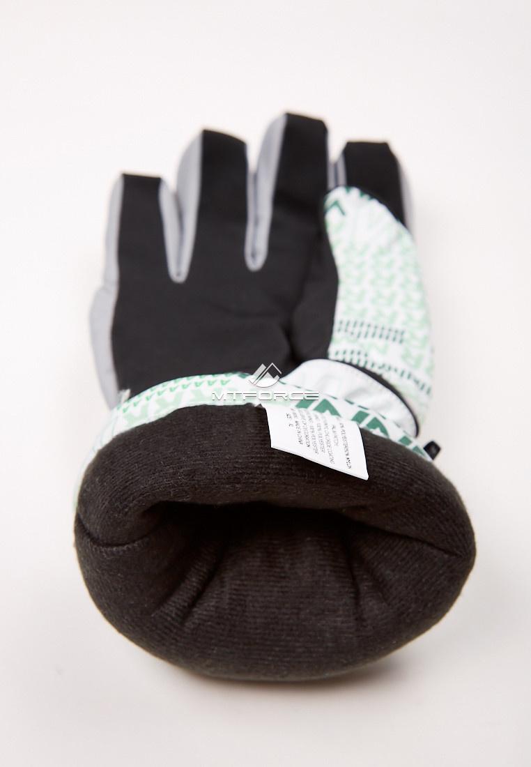 Купить оптом Перчатки мужские горнолыжные серого цвета 88061Sr
