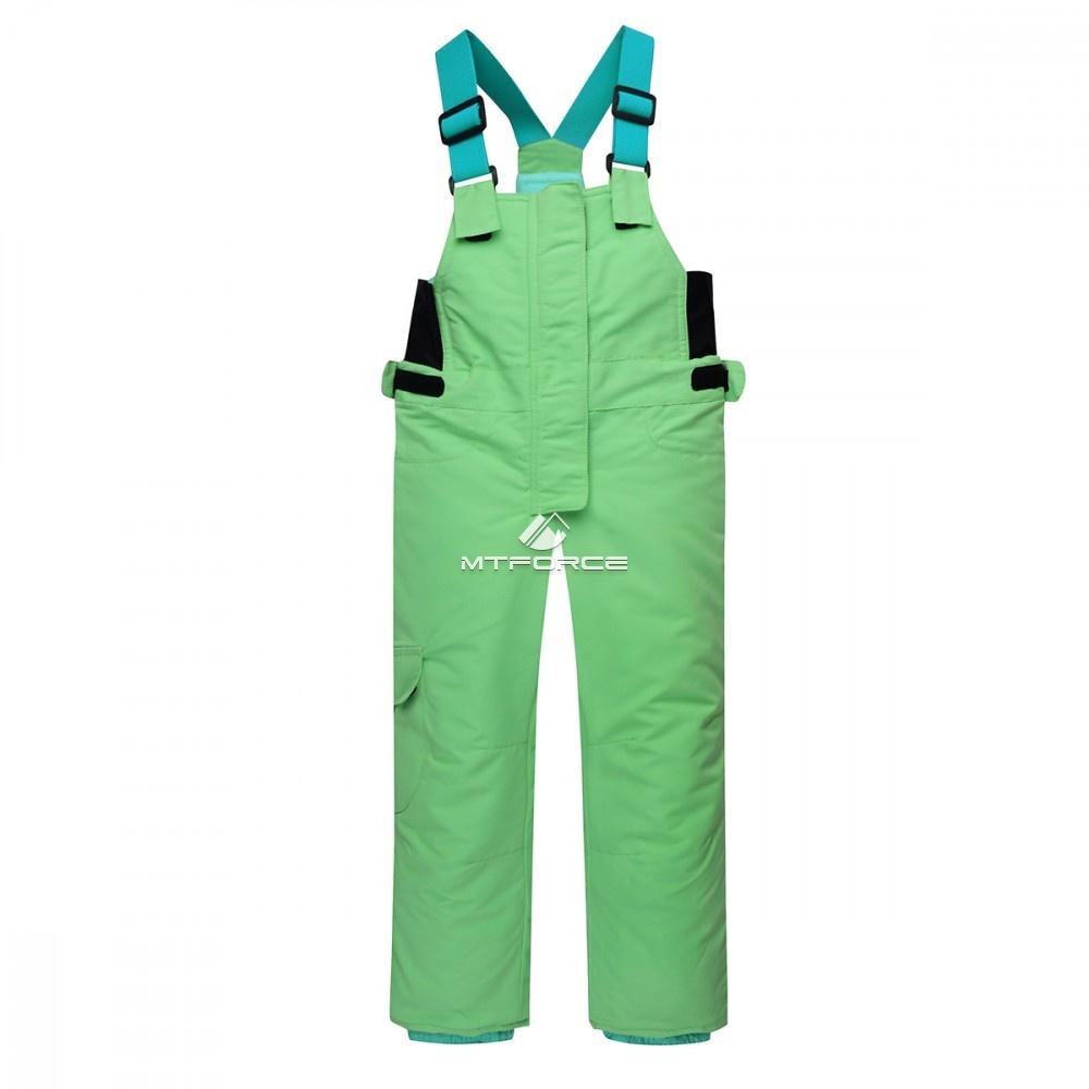 Купить оптом Горнолыжный костюм детский зеленый 8812Z в Воронеже