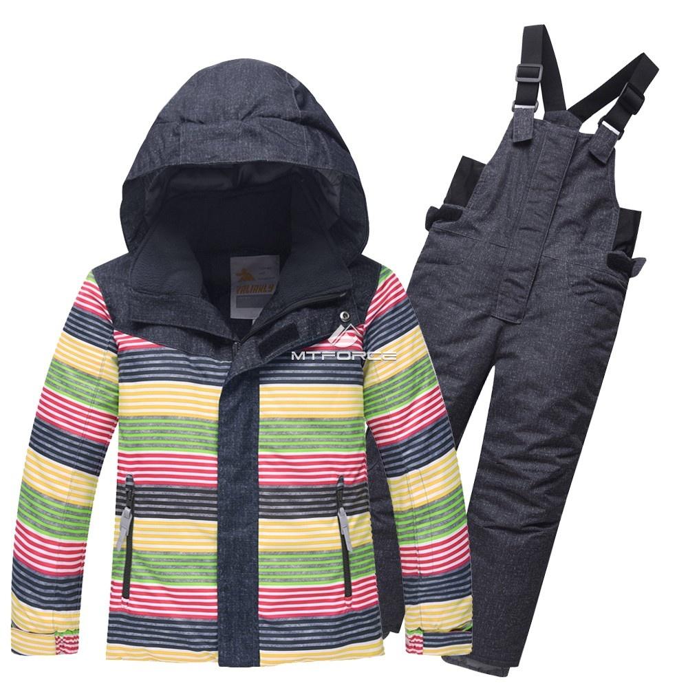 Купить оптом Горнолыжный костюм детский темно-серый 8813TC в Воронеже