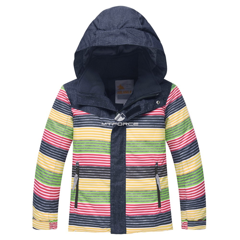 Купить оптом Горнолыжный костюм детский темно-серый 8813TC в Новосибирске