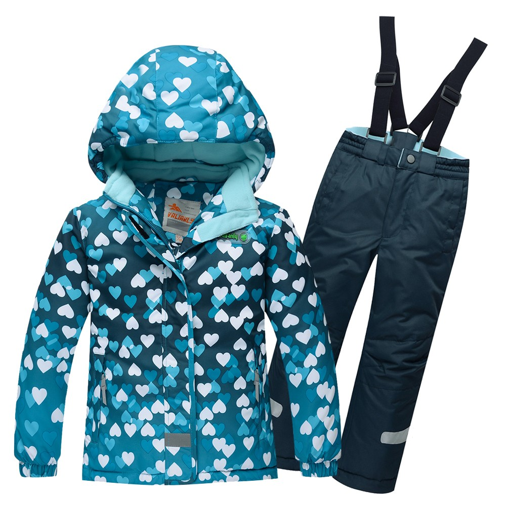 Купить оптом Горнолыжный костюм подростковый для девочки бирюзовый 8814Br в Воронеже