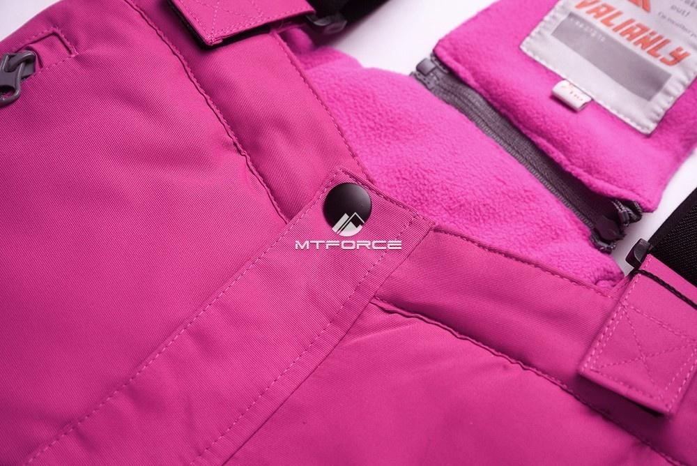 Купить оптом Горнолыжный костюм подростковый для девочки темно-серый 8816TС в Казани