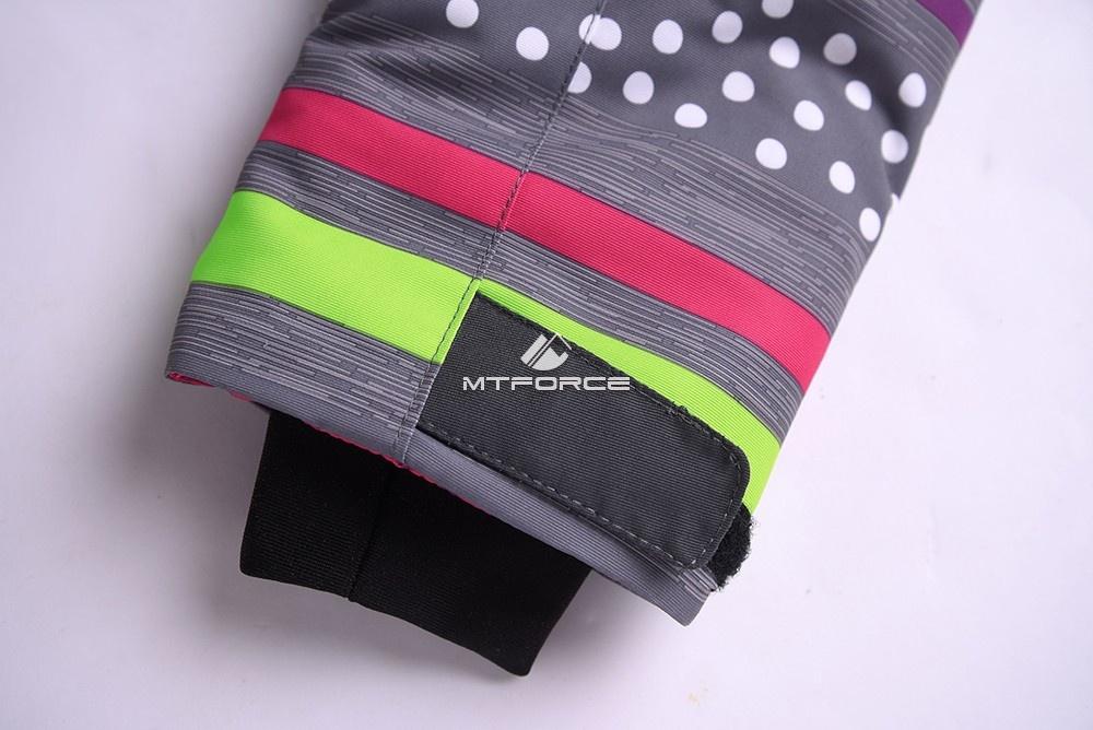 Купить оптом Горнолыжный костюм подростковый для девочки темно-серый 8816TС в Екатеринбурге
