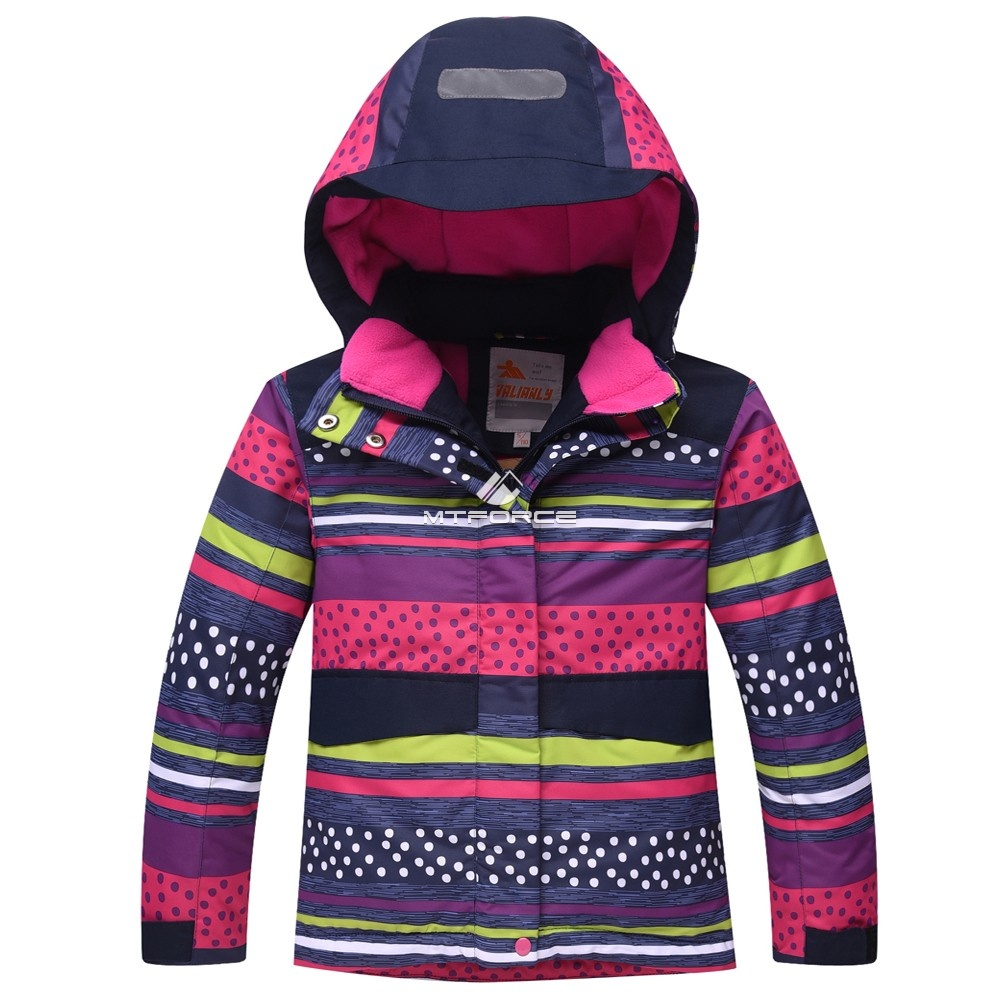 Купить оптом Горнолыжный костюм подростковый для девочки темно-синий 8816TS в Омске