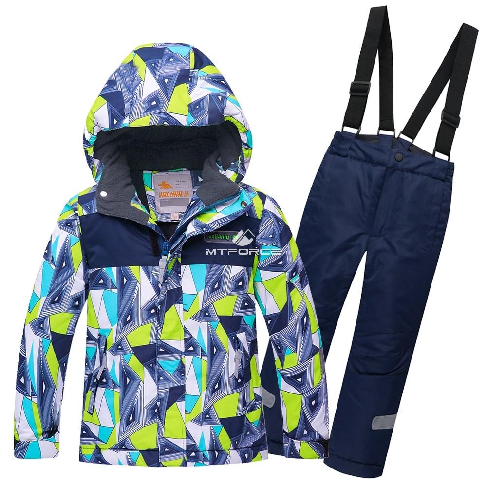 Купить оптом Горнолыжный костюм подростковый для мальчика зеленый 8817Z в Казани