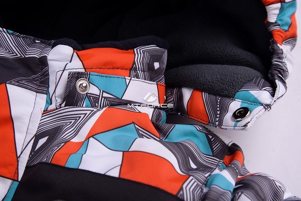 Купить оптом Горнолыжный костюм подростковый для мальчика оранжевый 8817O в Новосибирске
