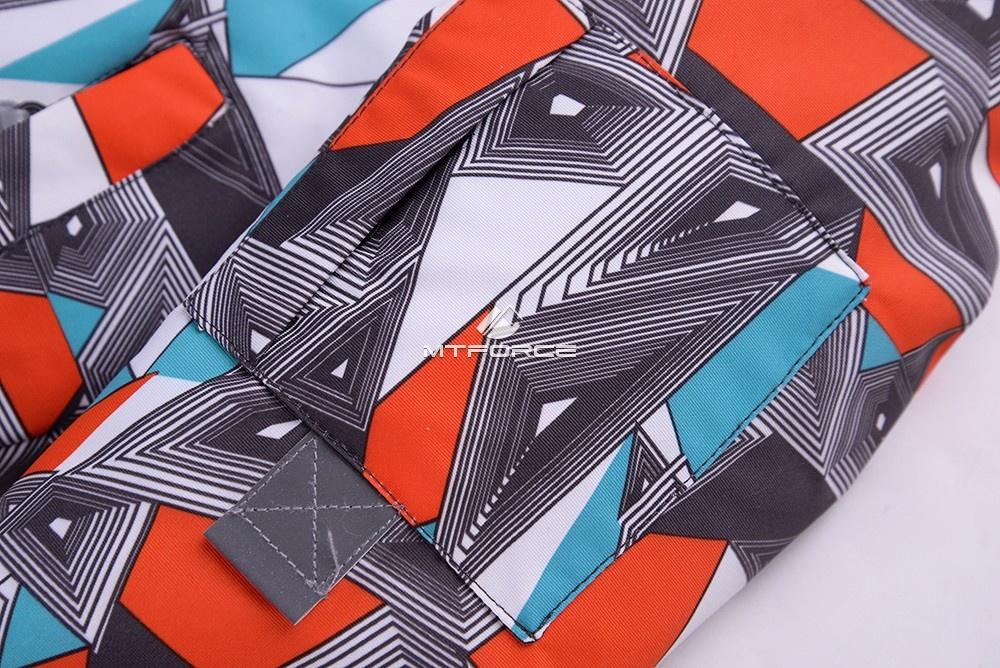 Купить оптом Горнолыжный костюм подростковый для мальчика оранжевый 8817O в Воронеже
