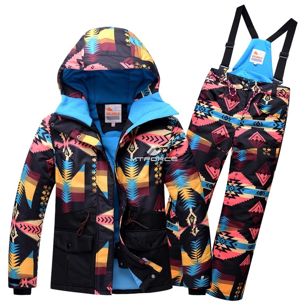 Купить оптом Горнолыжный костюм подростковый для девочки черный 8820Ch в  Красноярске