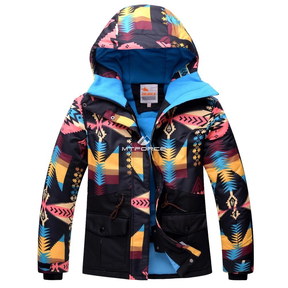 Купить оптом Горнолыжный костюм подростковый для девочки черный 8820Ch в Нижнем Новгороде