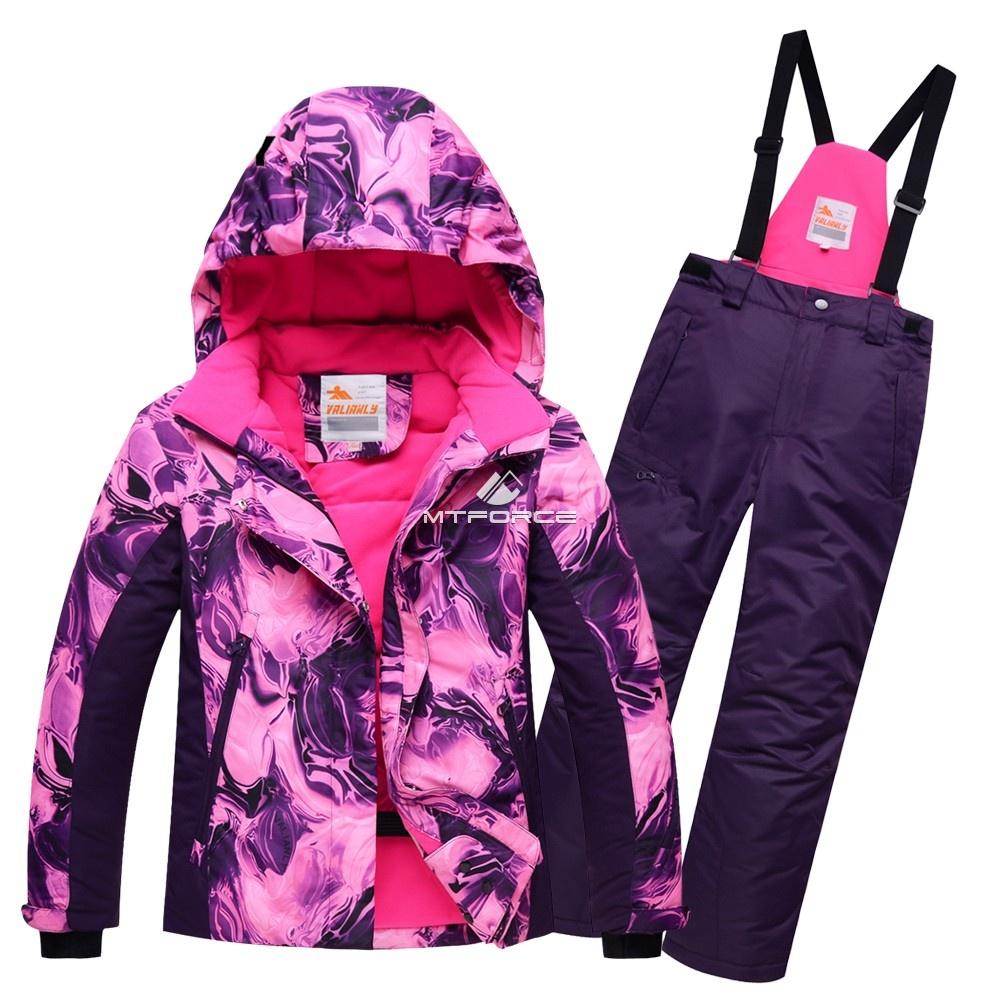 Купить оптом Горнолыжный костюм подростковый для девочки розовый 8824R в Нижнем Новгороде