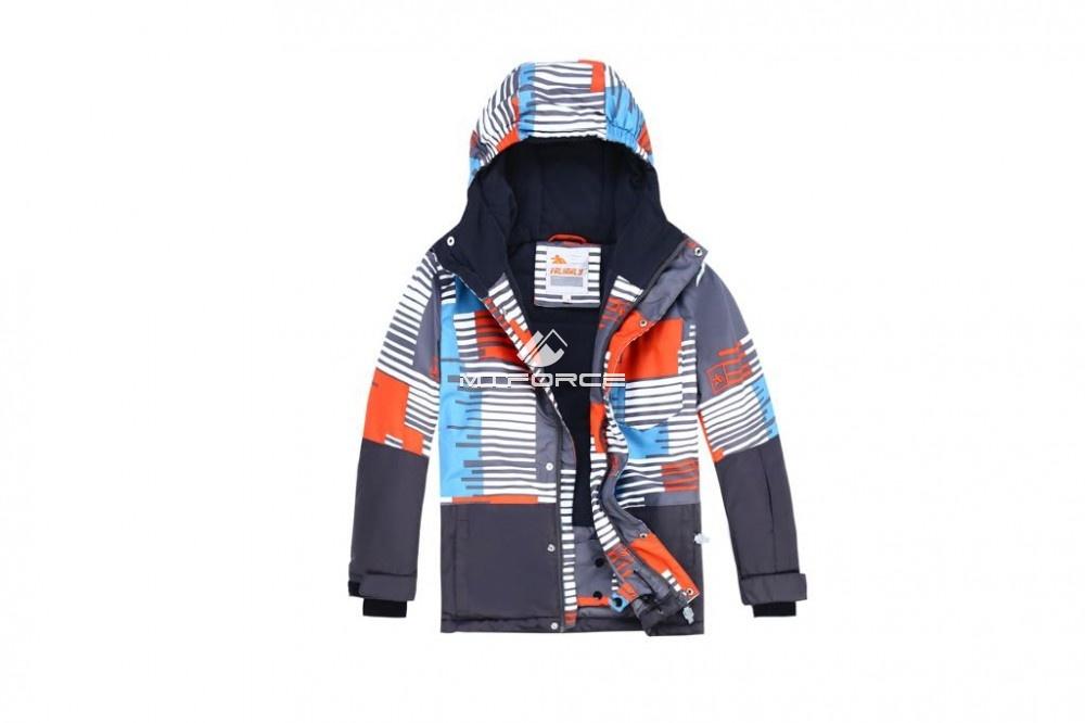 Купить оптом Горнолыжный костюм подростковый для мальчика оранжевый 8825O в  Красноярске