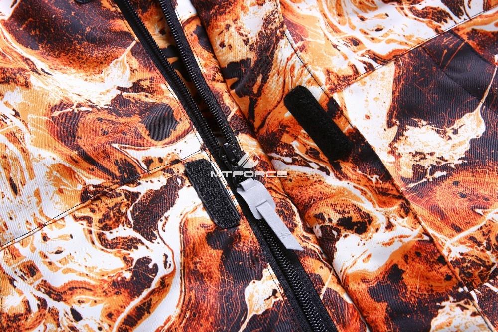 Купить оптом Горнолыжный костюм подростковый для мальчика оранжевый 8827O в Воронеже