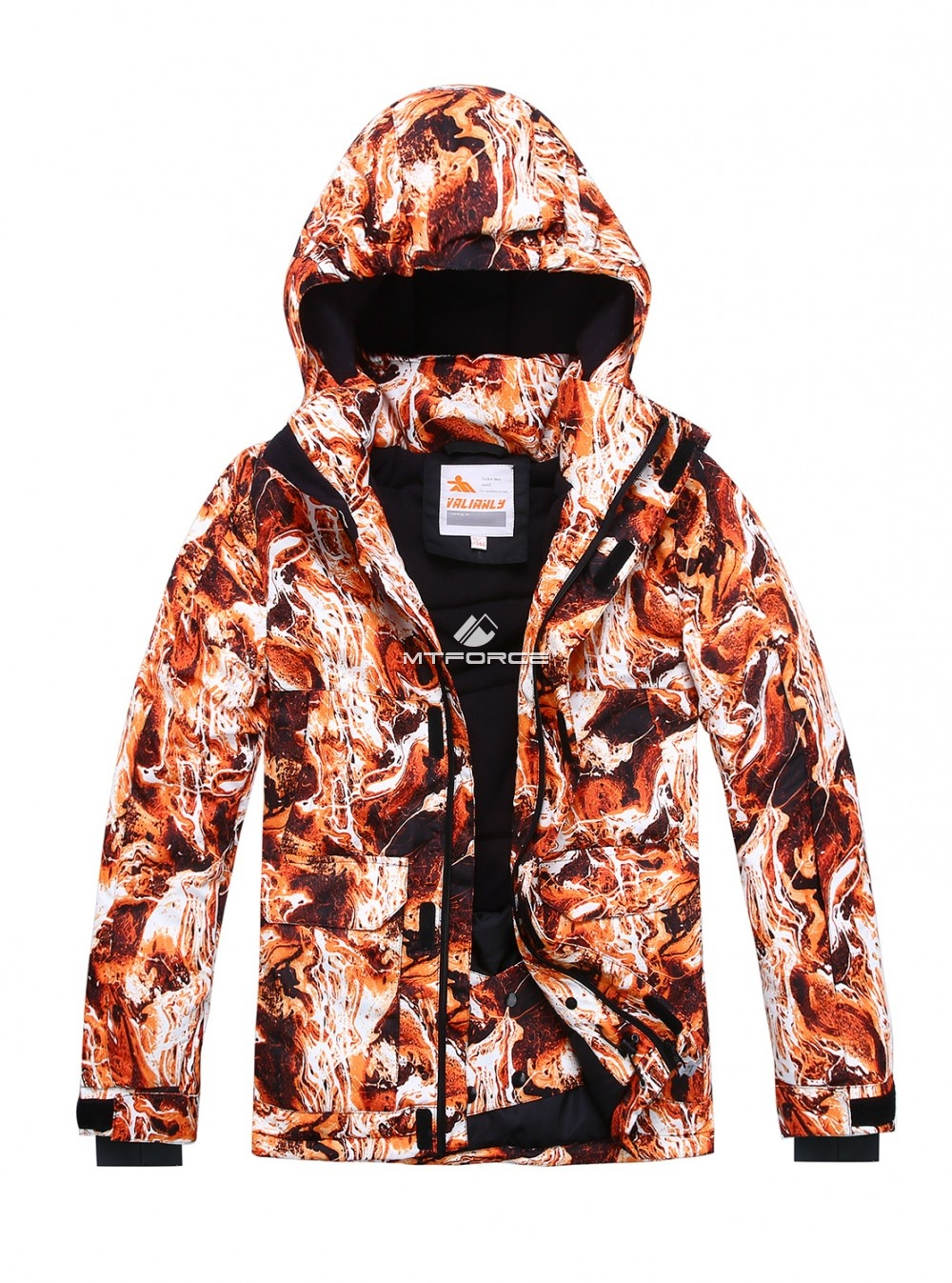 Купить оптом Горнолыжный костюм подростковый для мальчика оранжевый 8827O в Омске