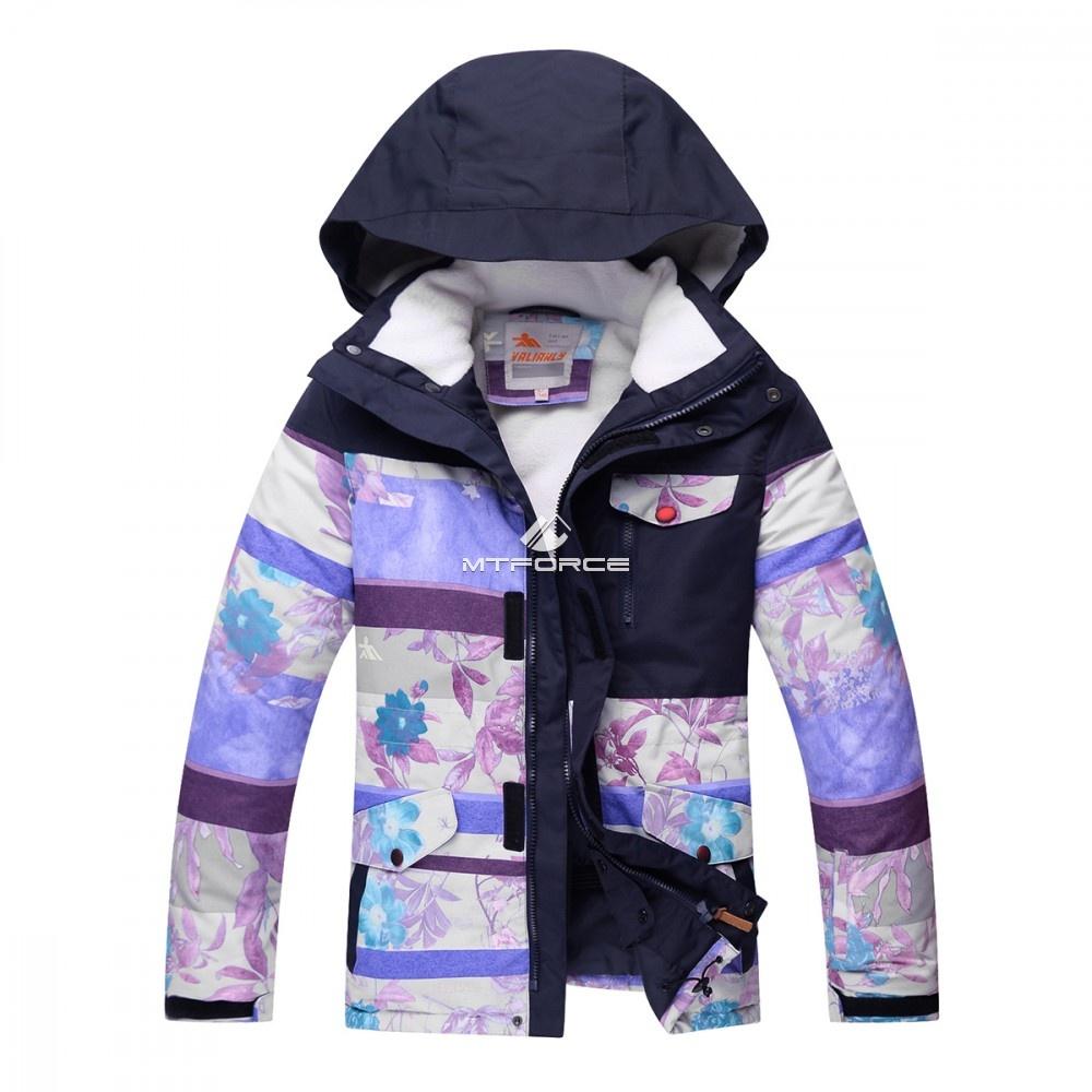 Купить оптом Горнолыжный костюм подростковый для девочки фиолетовый 8830F