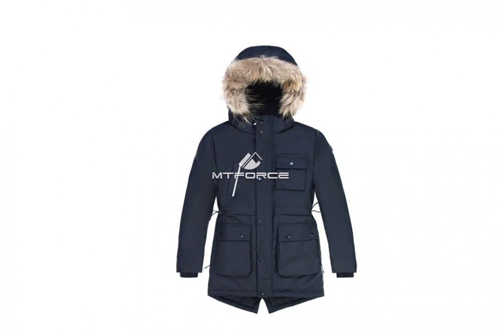 Купить оптом Куртка парка зимняя подростковая для мальчика черного цвета 8833Ch