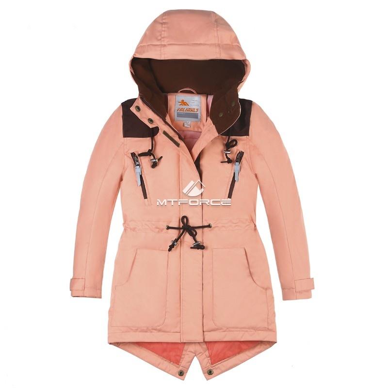 Купить оптом Куртка парка зимняя подростковая для девочки персикового цвета 8834P в Казани