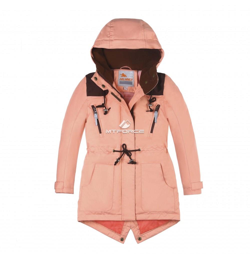 Купить оптом Куртка парка зимняя подростковая для девочки персикового цвета 8834P