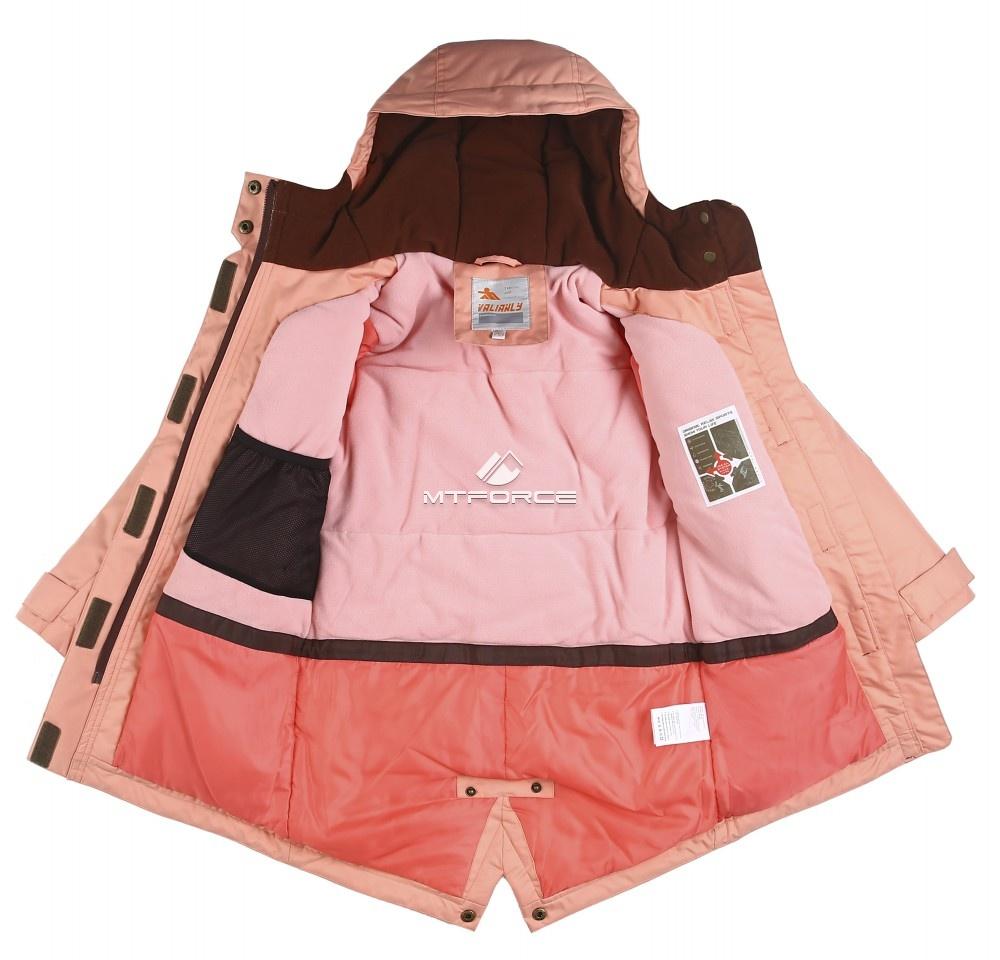 Купить оптом Куртка парка зимняя подростковая для девочки голубого цвета 8834Gl