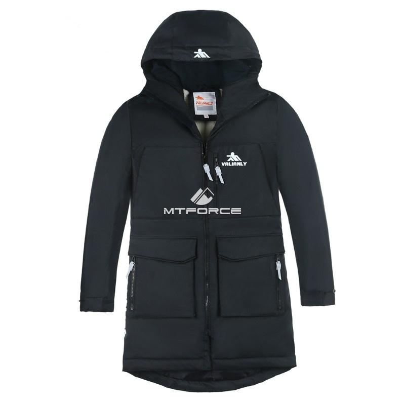 cb98a3b5bf3 Купить оптом Куртка парка зимняя подростковая для мальчика черного цвета  8835Ch ...