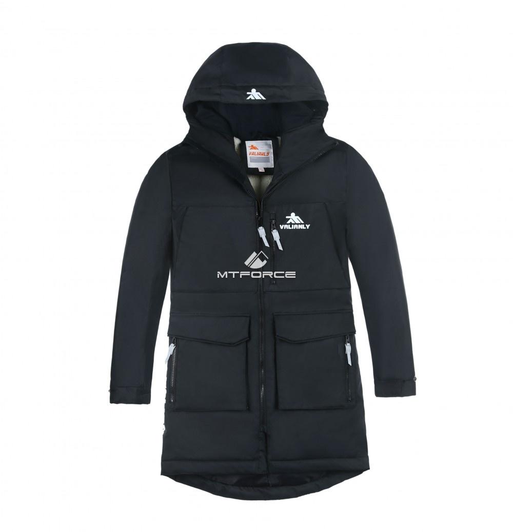 Купить оптом Куртка парка зимняя подростковая для мальчика черного цвета 8835Ch