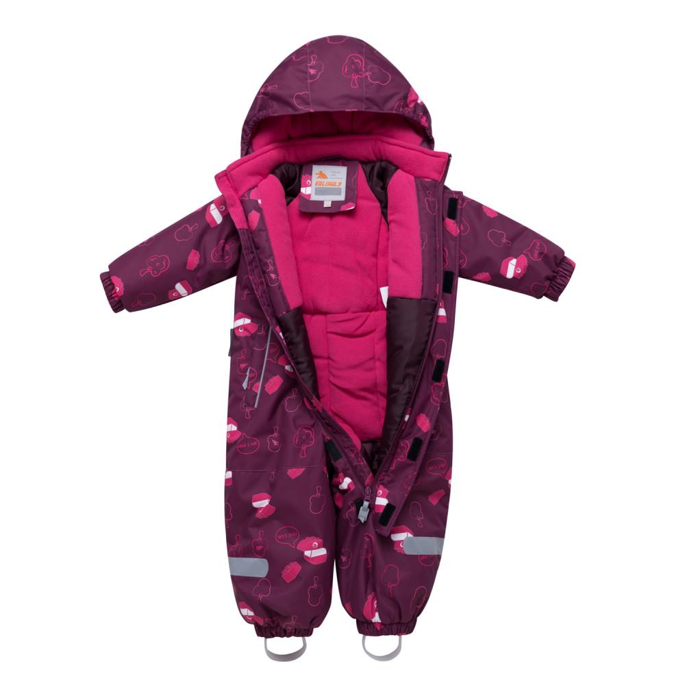 Купить оптом Комбинезон детский малинового цвета 8904М в Екатеринбурге