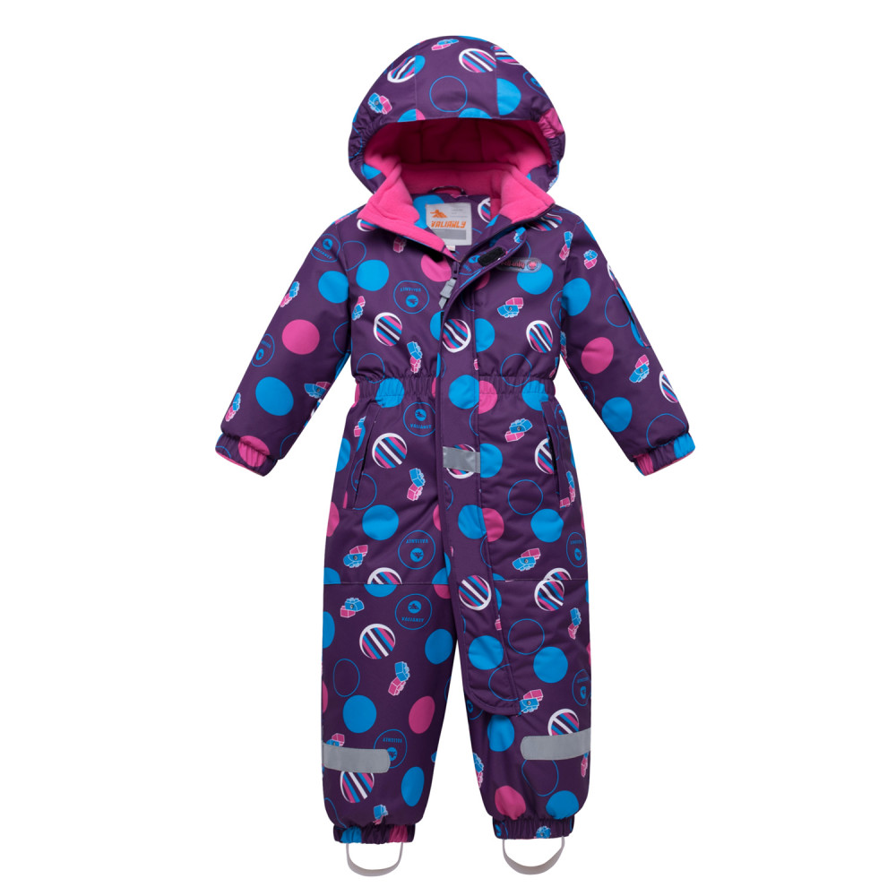 Купить оптом Комбинезон для девочки зимний фиолетового цвета 8906F в Волгоградке
