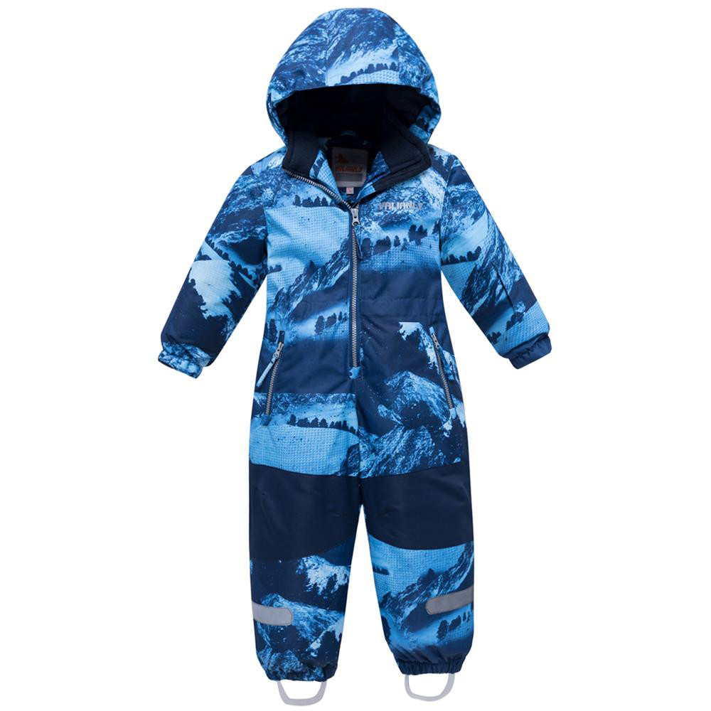 Купить оптом Комбинезон для мальчика зимний синего цвета 8907S в Казани