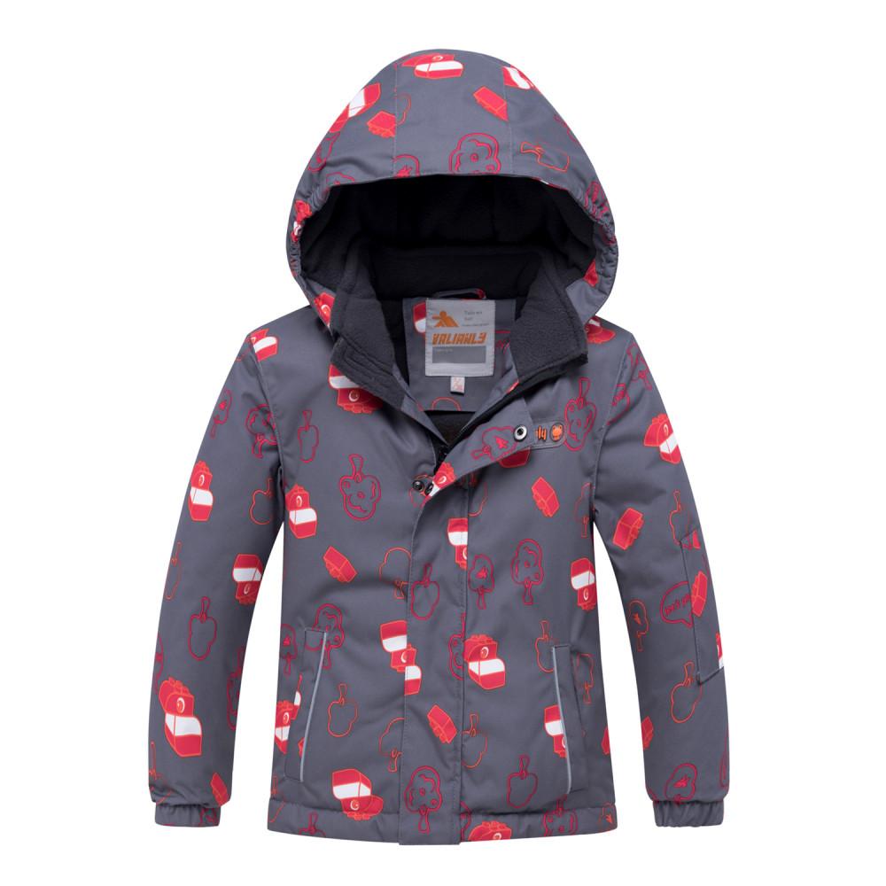 Купить оптом Горнолыжный костюм детский темно-серого цвета 8913TC в Сочи