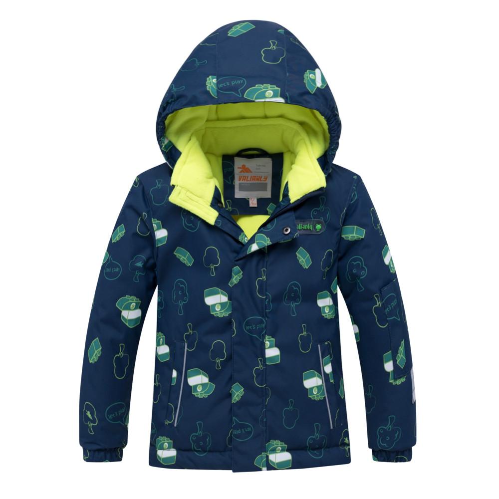 Купить оптом Горнолыжный костюм детский темно-синего цвета 8913TS в Санкт-Петербурге