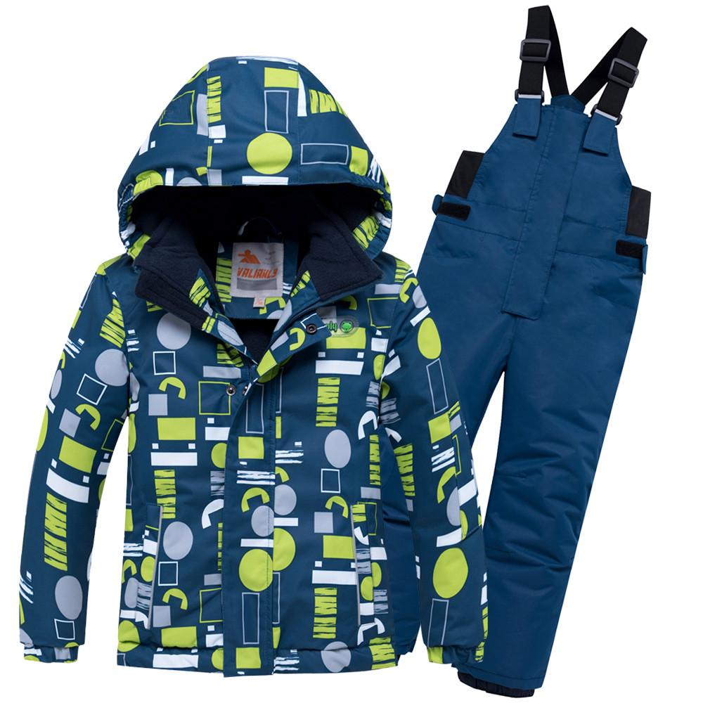 Купить оптом Горнолыжный костюм для мальчика желтого цвета 8925J в Сочи
