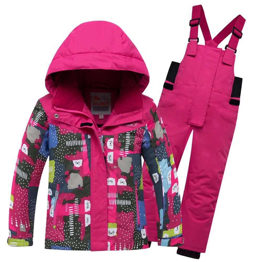 Купить оптом Горнолыжный костюм для ребенка розового цвета 8926R в Нижнем Новгороде