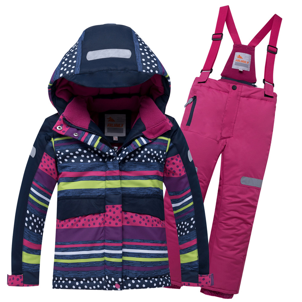 Купить оптом Горнолыжный костюм подростковый для девочки темно-синий 8930TS в Перми