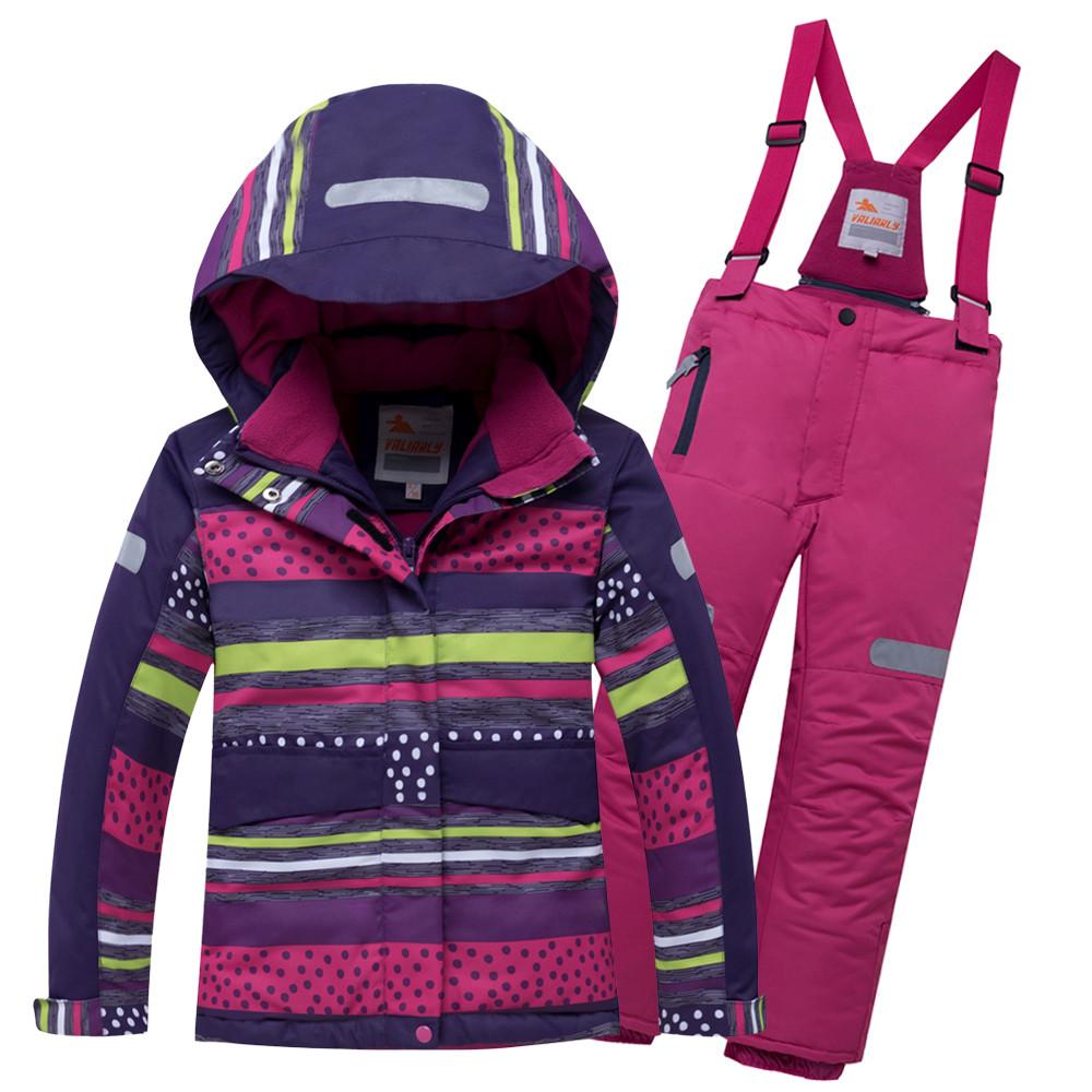 Купить оптом Горнолыжный костюм подростковый для девочки темно-фиолетового 8930TF в Нижнем Новгороде