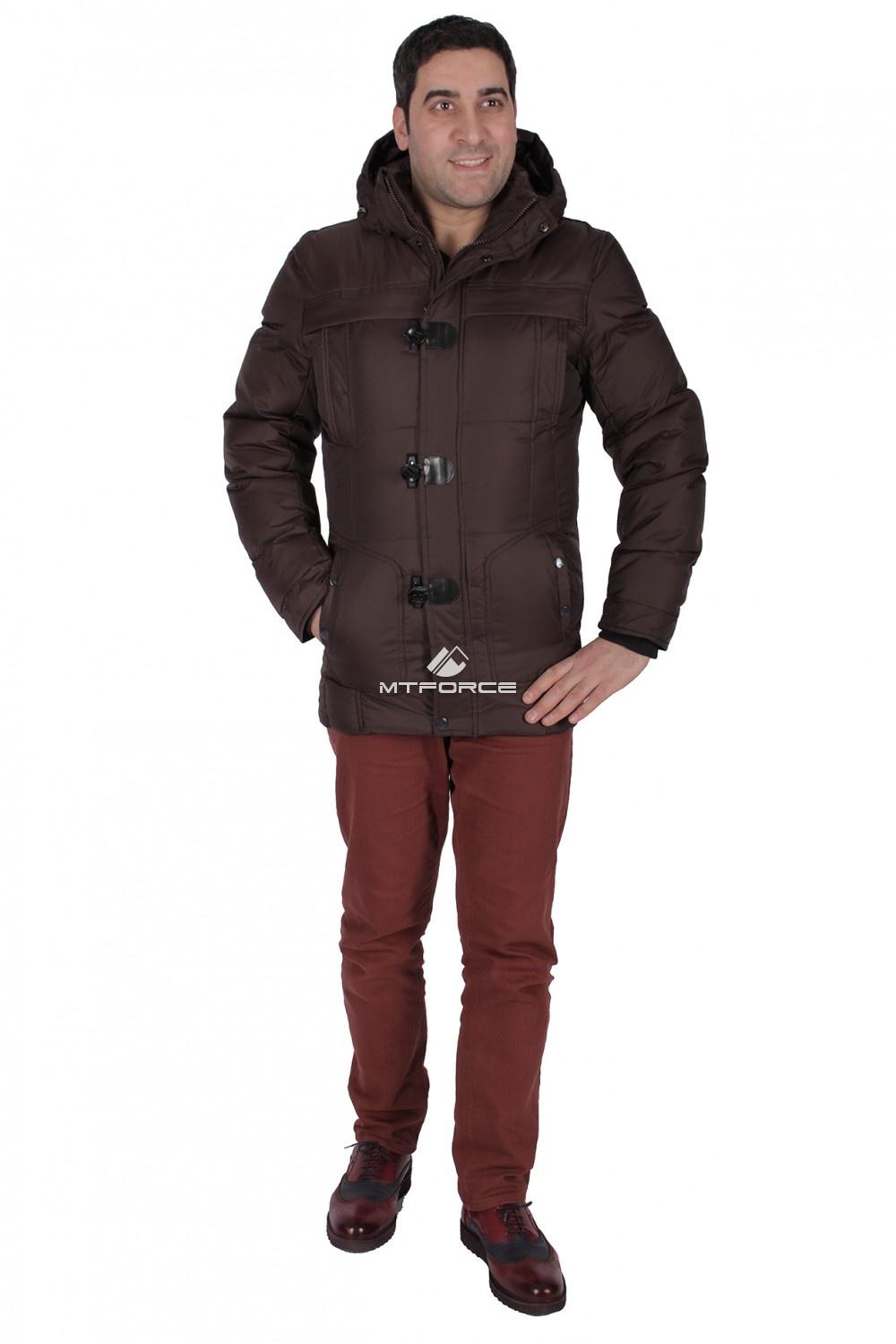 Купить                                  оптом Куртка зимняя мужская коричневого цвета 897K