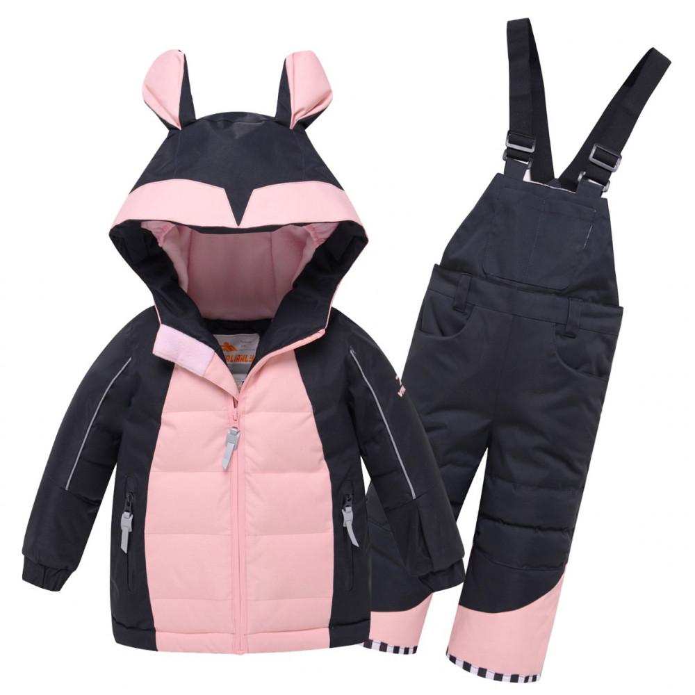Купить оптом Горнолыжный костюм детский Valianly черного цвета 9002Ch