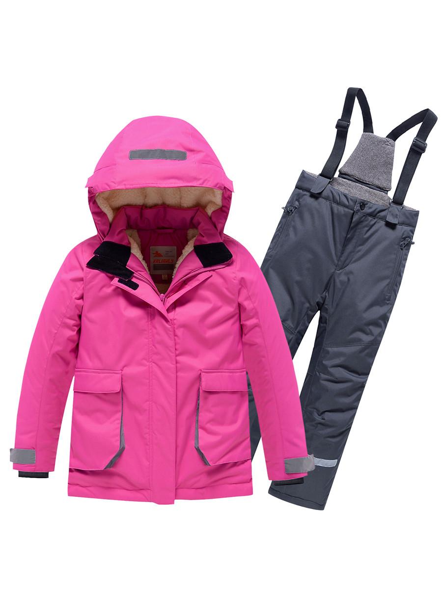 Купить оптом Горнолыжный костюм Valianly детский розового цвета 9004R