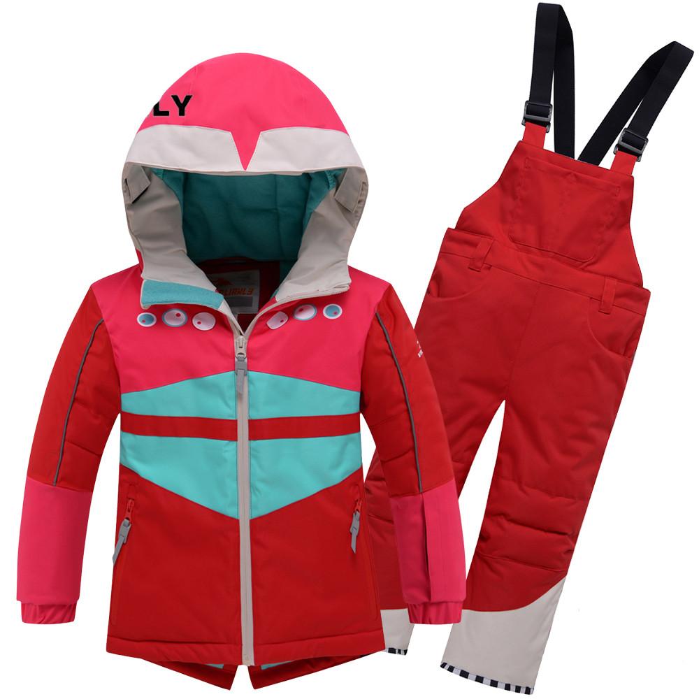 Купить оптом Горнолыжный костюм детский Valianly красного цвета 9006Kr
