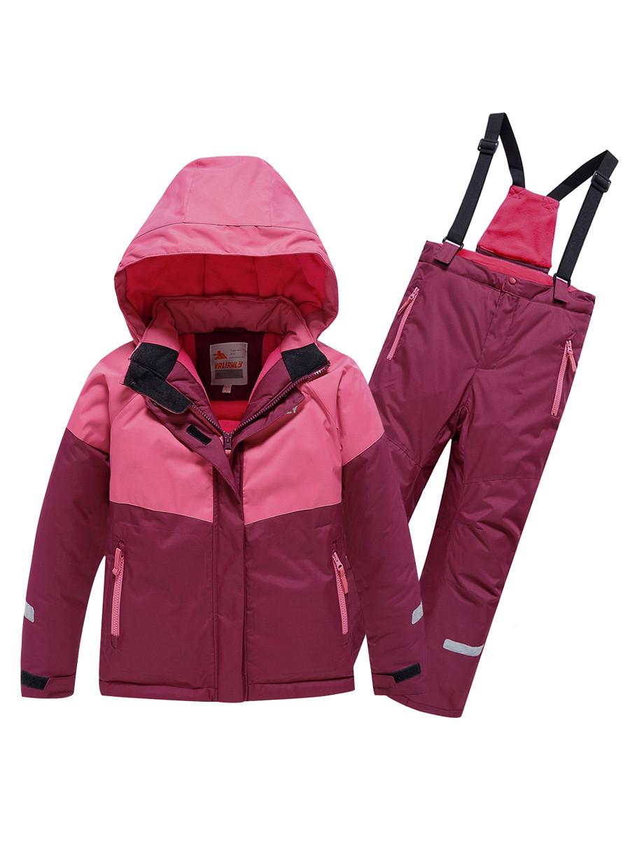 Купить оптом Горнолыжный костюм Valianly для девочки малинового цвета 90081M в Екатеринбурге