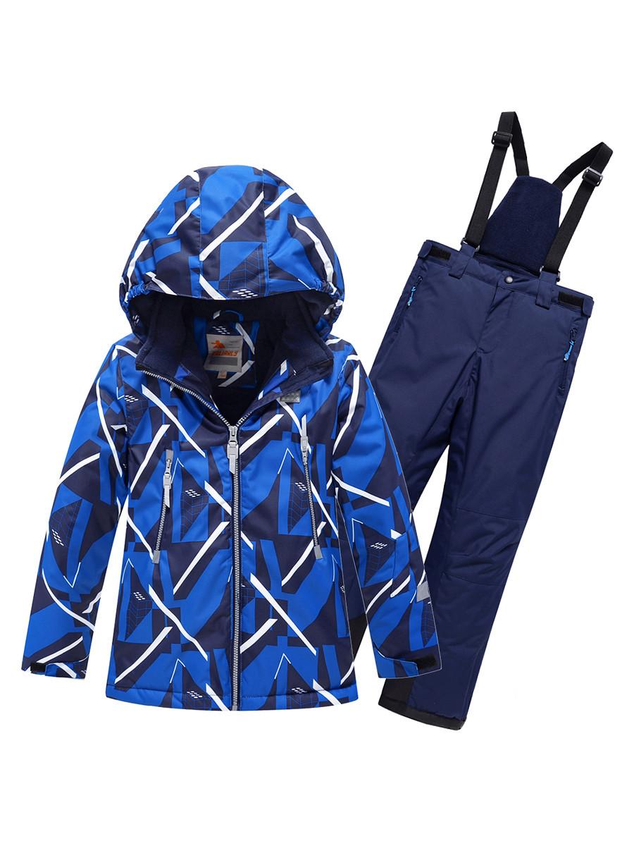 Купить оптом Горнолыжный костюм Valianly для мальчика синего цвета 9019S в Екатеринбурге