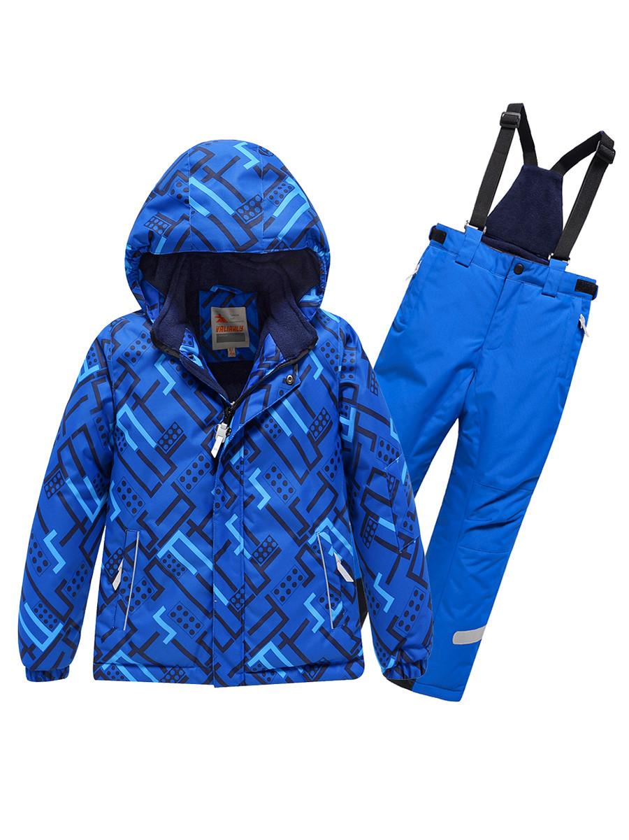 Купить оптом Горнолыжный костюм Valianly детский синего цвета 9013S в Екатеринбурге