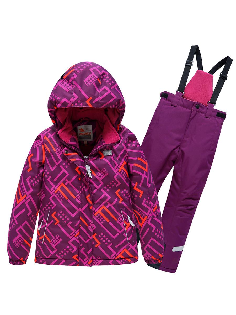 Купить оптом Горнолыжный костюм Valianly детский фиолетового цвета 9014F в Екатеринбурге