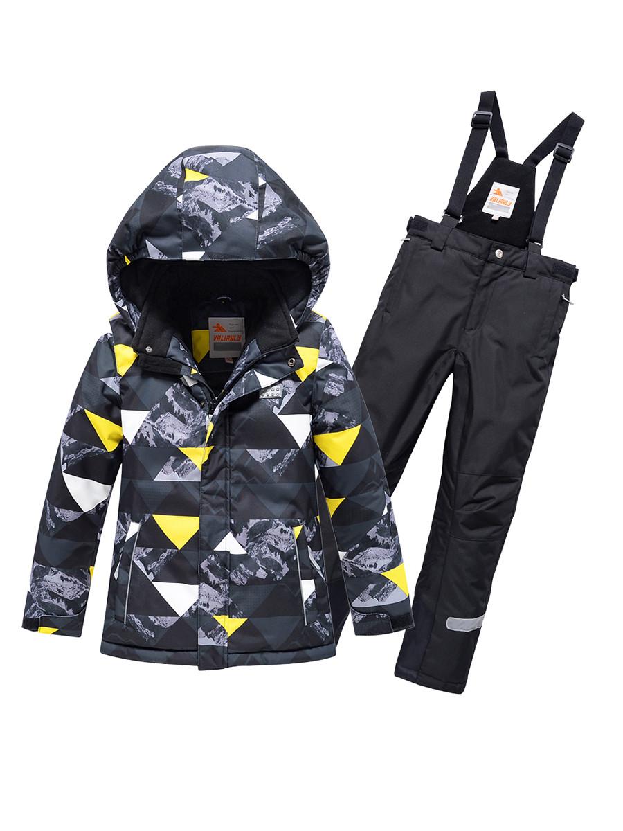 Купить оптом Горнолыжный костюм Valianly для мальчика темно-серого цвета 9017TC в Екатеринбурге