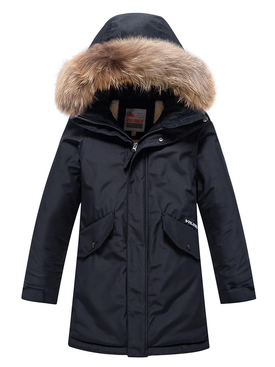 Купить оптом Парка зимняя Valianly для мальчика черного цвета 9039Ch