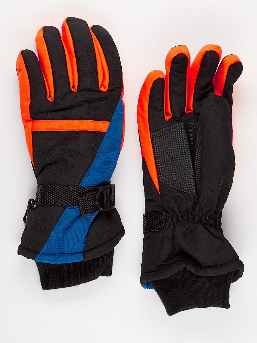 Перчатки горнолыжная подростковая для мальчика синего цвета 904S