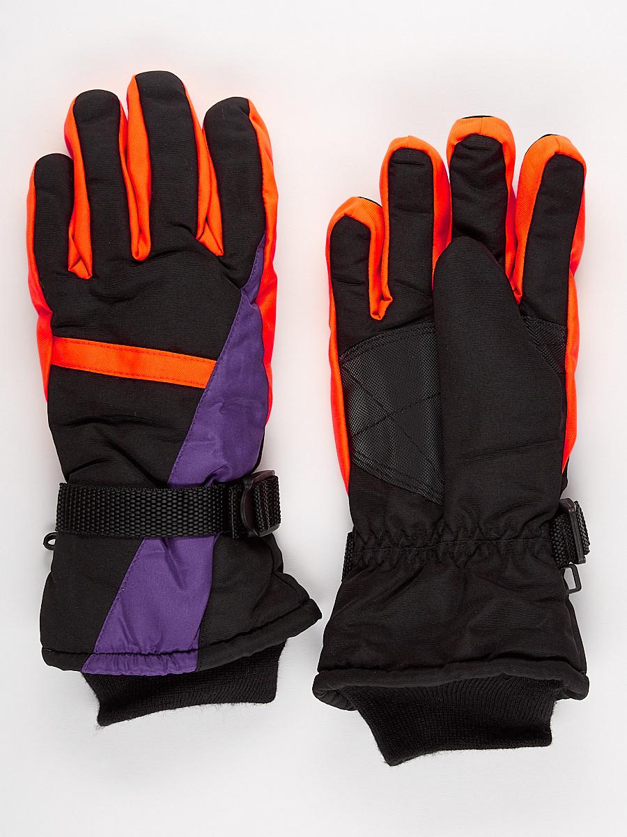 Перчатки горнолыжная подростковая для мальчика фиолетового цвета 904F