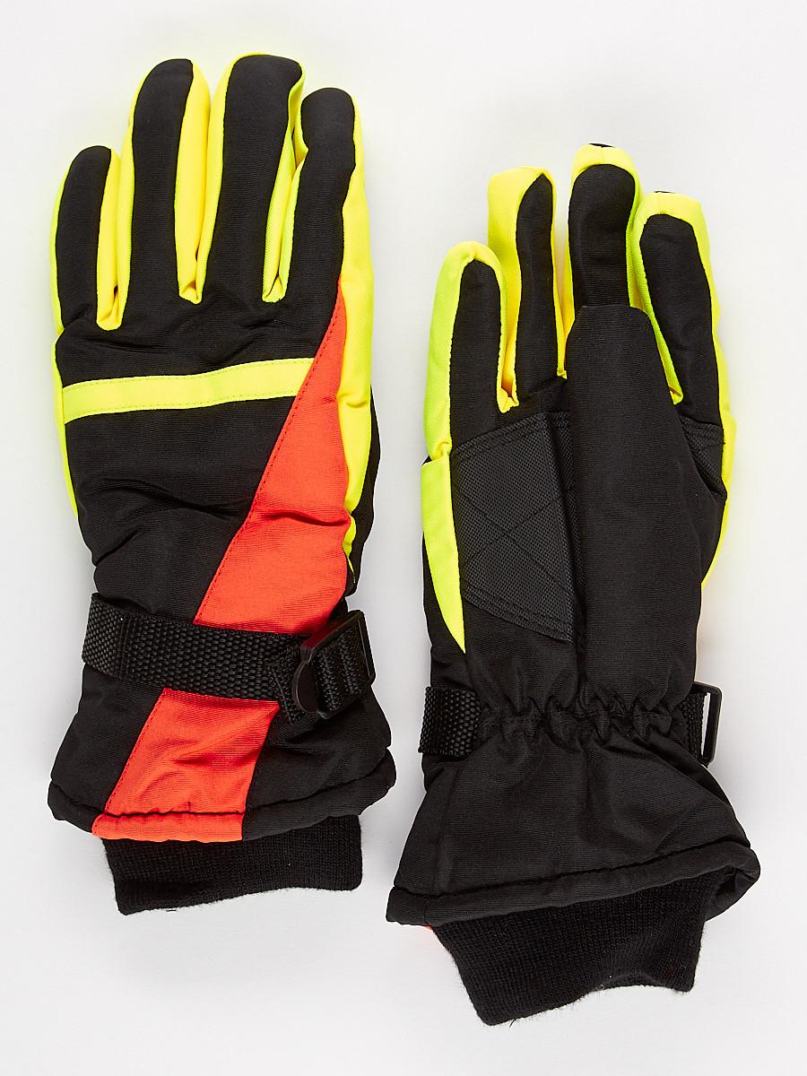 Перчатки горнолыжная подростковая для мальчика оранжевого цвета 904O